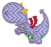 Dashing Dragons Applique 5x7