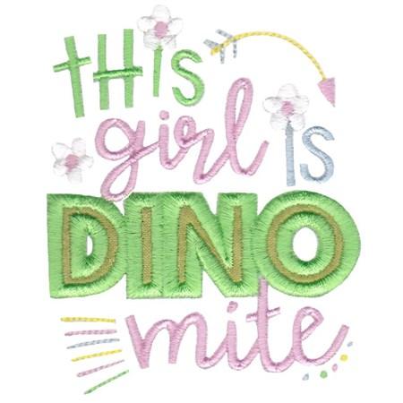 Dinosaur Girl Applique 12