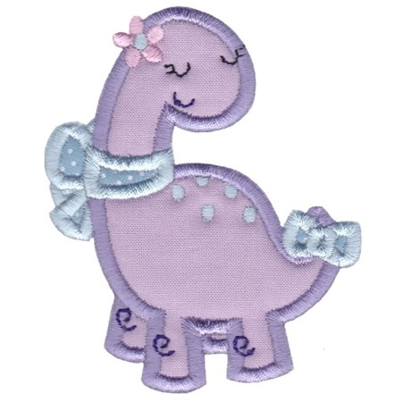 Dinosaur Girl Applique 2