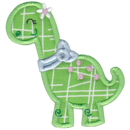 Dinosaur Girl Applique 7