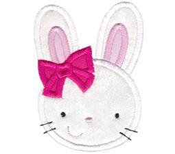 Girl Bunny Face Applique