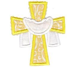 Cross and Shroud Applique