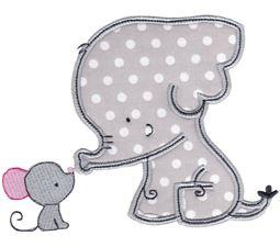 Elephants Applique 1