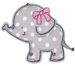 Elephants Applique 14
