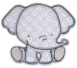 Elephants Applique 5
