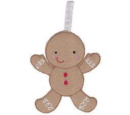 Gingerbread Man Christmas Ornament and Feltie