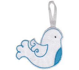 Dove Christmas Ornament and Feltie