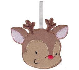 Reindeer Christmas Ornament and Feltie