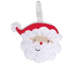 Santa Face Christmas Ornament and Feltie