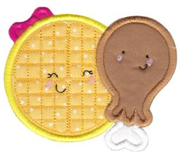 Waffles and Chicken Applique