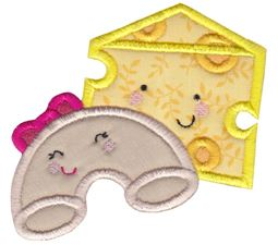 Mac and Cheese Applique