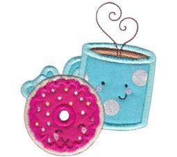 Doughnut and Coffee Applique