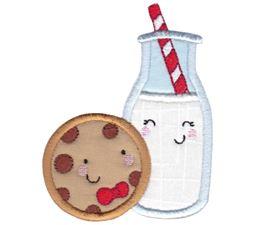 Milk and Cookies Applique