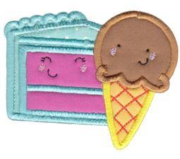 Ice Cream and Cake Applique