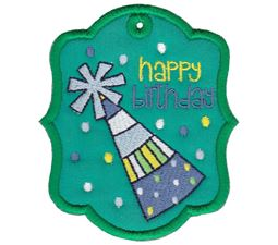 Party Hat Happy Birthday Gift Tag