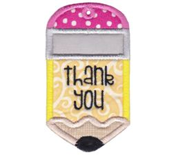 Pencil Thank You Gift Tag