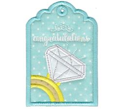 Engagement Ring Congratulations Gift Tag