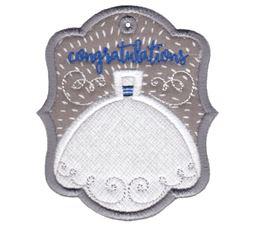 Wedding Dress Congratulations Gift Tag