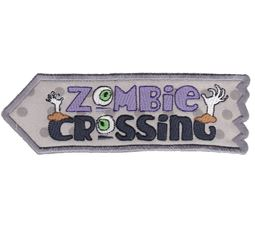 Zombie Crossing ITH Halloween Sign