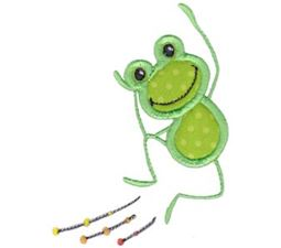 Happy Frog Applique 1