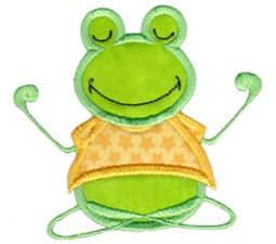 Happy Frog Applique 10