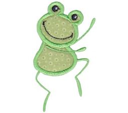 Happy Frog Applique 3