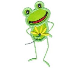 Happy Frog Applique 4