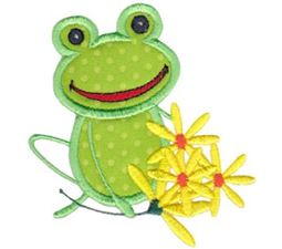 Happy Frog Applique 6