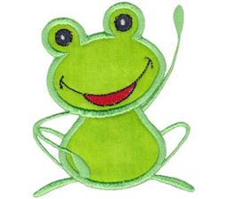 Happy Frog Applique 9