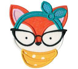 Hipster Fox Face Applique