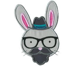 Hipster Rabbit Face Applique