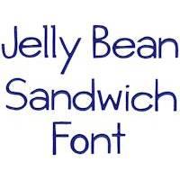 Jellybean Sandwich Font