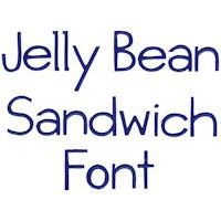 Embroidery Design Set - Jellybean Sandwich Font