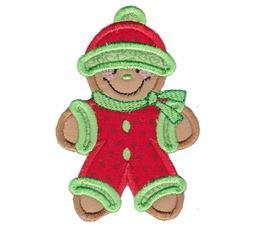 Jolly Gingerbreads Applique 1