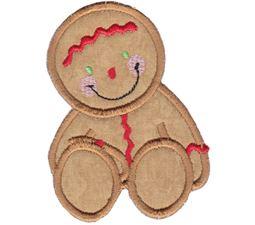 Jolly Gingerbreads Applique 12