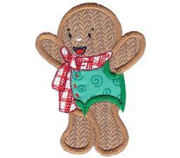 Jolly Gingerbreads Applique 4