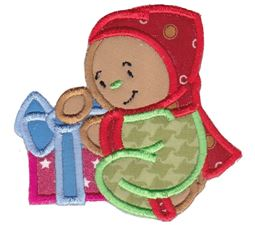 Jolly Gingerbreads Applique 9