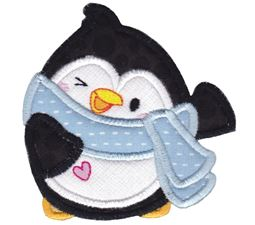 Kawaii Penguin With Scarf Applique