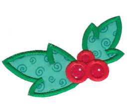 Kawaii Mistletoe Applique
