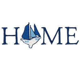 Home With Sail Boat