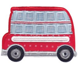 Double Decker Bus Applique