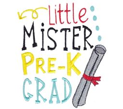 Little Mister Pre K Grad