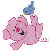 Embroidery Design Set - Little Piggy