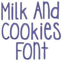 Milk and Cookies Font