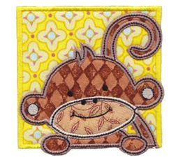 Monkey Friends Applique Blocks 5