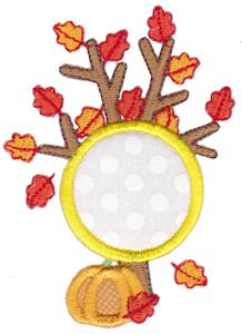 Monogram Thanksgiving Applique 11