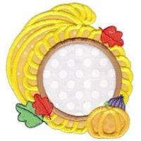 Embroidery Design Set - Monogram Thanksgiving Applique