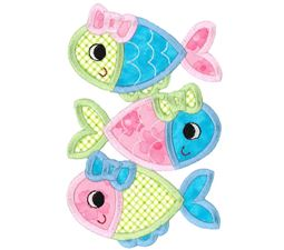 Stack of Girl Fish Applique