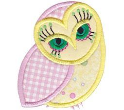 Owls Applique 4