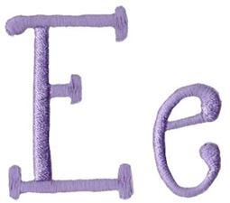 Quirky Girl Alphabet E